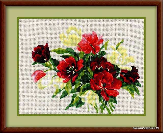 Вышивка - Тюльпаны