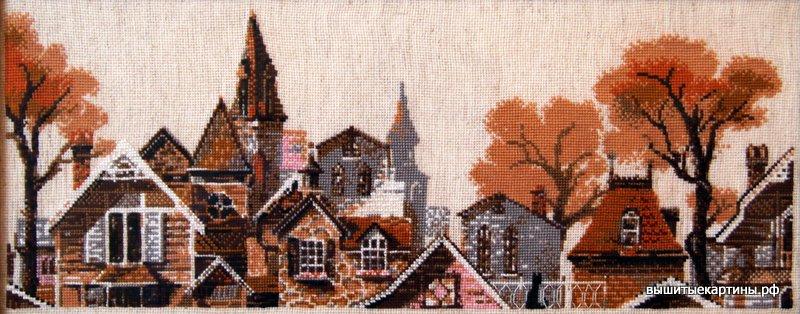 Вышивка — Городской пейзаж