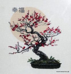 вышивка бонсай