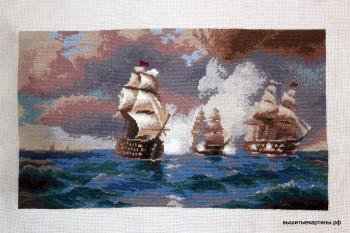 Айвазовский «Бриг «Меркурий», атакованный двумя турецкими кораблями»